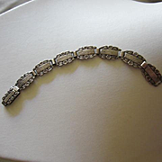 Victorian Forget Me Not Sterling Silver Child or Maiden Size Bracelet