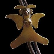 Amazing Incredible Bronze Vintage Bolo Tie