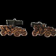 Vintage Classic Car Figural Copper Cufflinks
