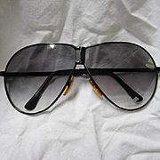 Vintage Corvette Folding Aviator Sunglasses in Case Retro Madmen Designer Fashion Race Car Auto Memorabilia