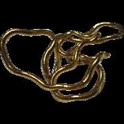Vintage Gold tone Flexible Necklace or Bracelet