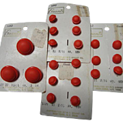 Orange is the new black Super Cool Vintage Round Buttons on Original Cards