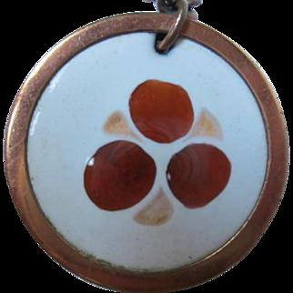 Matisse Signed Book Piece Gracelet Enamel on Copper Vintage Pendant Necklace
