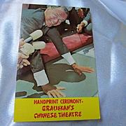 Frank Sinatra Handprint Ceremony Grauman's Chinese Theatre Unused Vintage Postcard