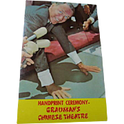 Frank Sinatra Handprint Ceremony Grauman's Chinese Theatre Unused Vintage Postcard