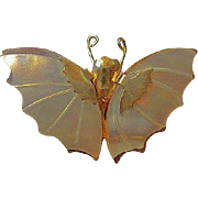 Mother of Pearl MOP Butterfly Figural Vintage Brooch Pin
