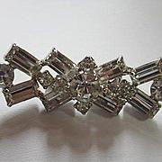 La Rel Signed Sparkling Austrian Crystal 1950s Vintage Brooch Pin