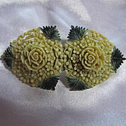 Wonderful  Celluloid Flower Vintage Brooch Pin