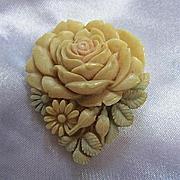 Gorgeous Celluloid Pastel Flower Vintage Dress Clip