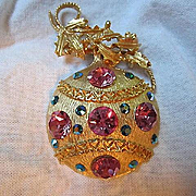 Stunning Weiss Austrian Crystals  Christmas Ornament Vintage Brooch Pin 1960s Mint Condition