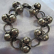 Hand Made Silver Earlier Unique Signed Made in Mexico Vintage Bracelet