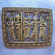 Signed MFA Museum of Fine Arts Egyptian Revival Ancient Grecian Women Vintage Brooch Pin