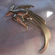Art Deco Sterling Silver Figural Vintage Brooch Pin