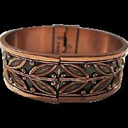 Renoir Signed 1950s Mid Century Design Copper Vintage Bangle Bracelet