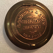 Rare Advertising Mirror Compact G. Goulding Sons Model Hats Millinery Toronto Vintage Vanity Compact