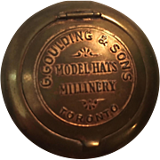 Advertising Mirror Compact G. Goulding Sons Model Hats Millinery Toronto Vintage Vanity Compact