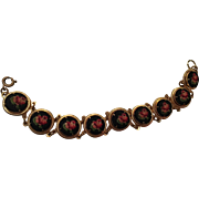 Lovely Petit point Floral Hand Stitched Vintage Bracelet