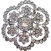 Snow flake vintage crystal brooch elegant jewelry