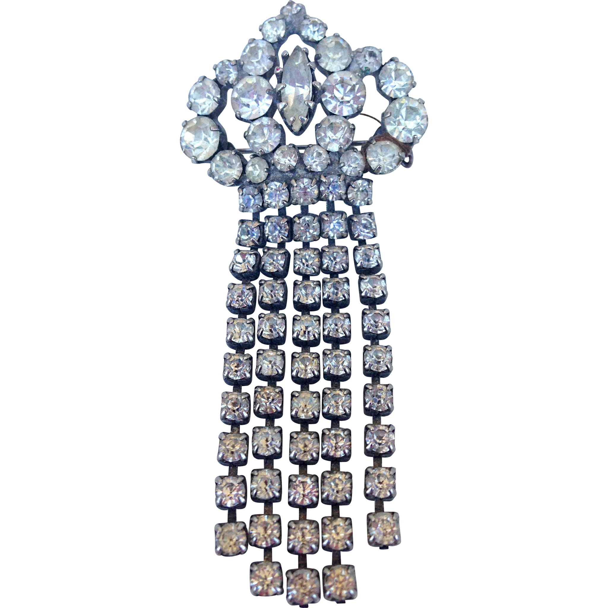 Excellence decoration old crystal brooch vintage flea market jewelry