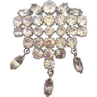Excellence decoration old crystal brooch vintage flea market jewelry