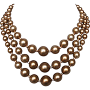 Audrey Hepburn style pearl necklace vintage restored romantic jewelry
