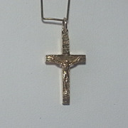 9K Yellow Gold IRISH Crucifix Religious Pendant