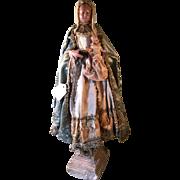 Early Wax Madonna & Christ Child