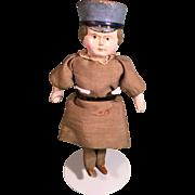 Molded Hat Papier-mâché Doll