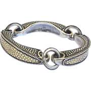 SALE! Retired John Hardy  18K Gold & Sterling Silver Bridle Bracelet