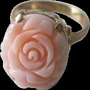 Vintage European Angel Skin Coral 585 (14K) Ring