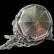 Silver Armor Metal Mesh Wrist Dance Purse 20's Era