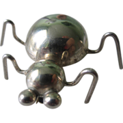 Adorable Vintage Sterling Silver Taxco Bug Brooch