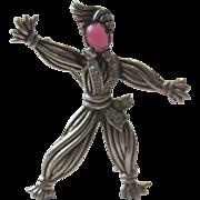 RARE 1943 Sterling Silver Alfred Philippe Trifari Solo Rintintin Figural Brooch