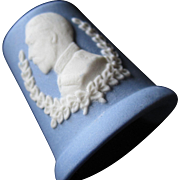 SALE Blue And White Wedgwood George V Thimble
