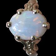Estate Vintage 14K YG Oval Opal Ring