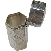 Adorable Vintage Sterling Silver Octagon Pill Box