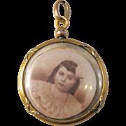 Antique Victorian Gold Filled Tri Color Crystal Locket