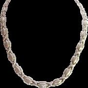 Vintage Sterling Silver Kiss Link Necklace