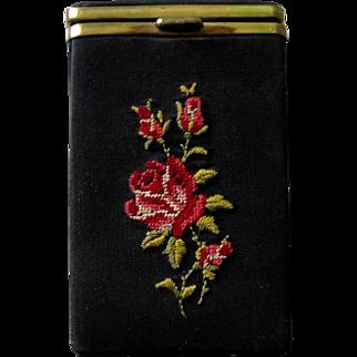Collectable Vintage Petit Point Cigarette Case
