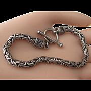 Estate Solid Sterling Silver Unisex Bracelet