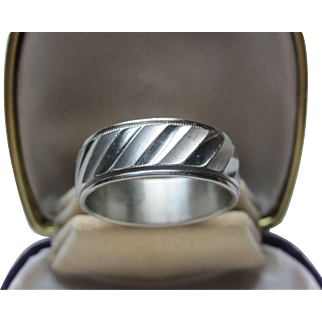 Vintage Men's Sterling Silver Classic 70's Wedding Band