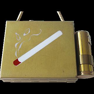 Fabulous Vintage Art Deco Cigarette Compact Dance Purse