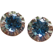 Stunning Edwardian Platinum Earrings With 1.85tcw London Blue Topaz