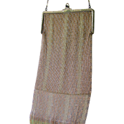 Art Deco Whiting Davis Limited Edition Anniversary Baby Mesh Purse Sterling Silver and 14K GF c:1926