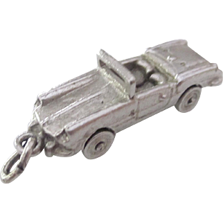 Vintage Sterling Silver 3-D Moving & Rolling Mustang Convertible Charm/Pendant Early 50's