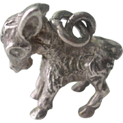 Vintage Sterling Silver 3-D Donkey Charm/Pendant