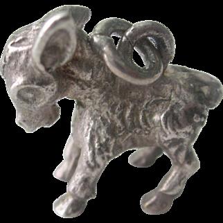 Vintage Sterling Silver 3-D Donkey Charm/Pendant