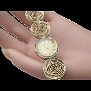 Vintage Ladies Mechanical Lotos Link Watch