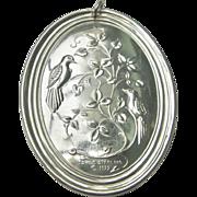 Vintage 1972 Sterling Silver Towle HUGE Christmas Ornament/Pendant