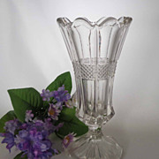 EAPG Vase Virginia / Banded Portland U.S. Glass #15071